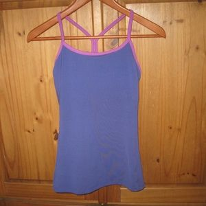 Work Out Racer Back Bra Top Purple